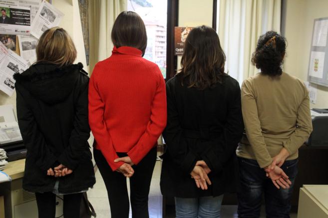 Mujeres maltratadas que se encuentran en casas de acogida.