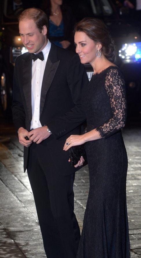 Los duques de Cambridge, el pasado día 13 en una gala.