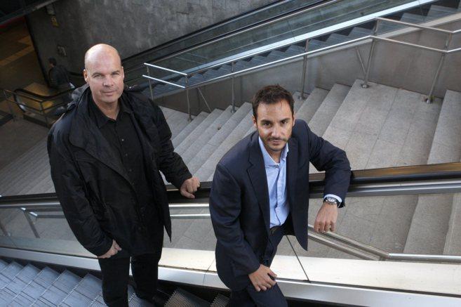 Ferran Martínez y Antoni Castelltort, momentos antes de la entrevista...