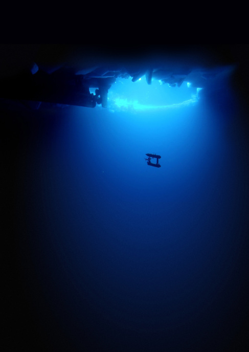 El robot 'AUV SeaBED' en aguas de la Antártida
