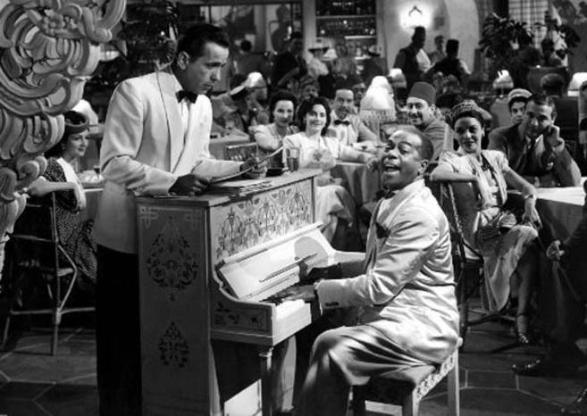 Escena de la película 'Casablanca' en la que aparece el...