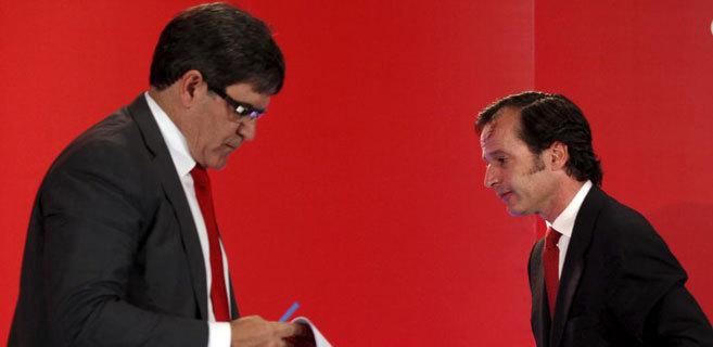 Javier Marín (d) y José Antonio Álvarez