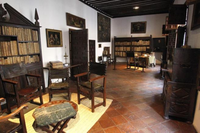 Una de las estancias de la Casa Museo Lope de Vega.