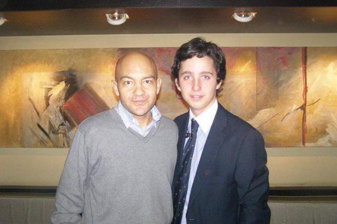 Jaime García-Legaz, junto al 'pequeño Nicolás'