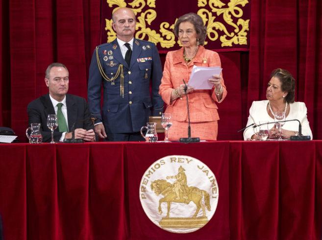 Su majestad la Reina Sofía durante su discurso con motovo de los...