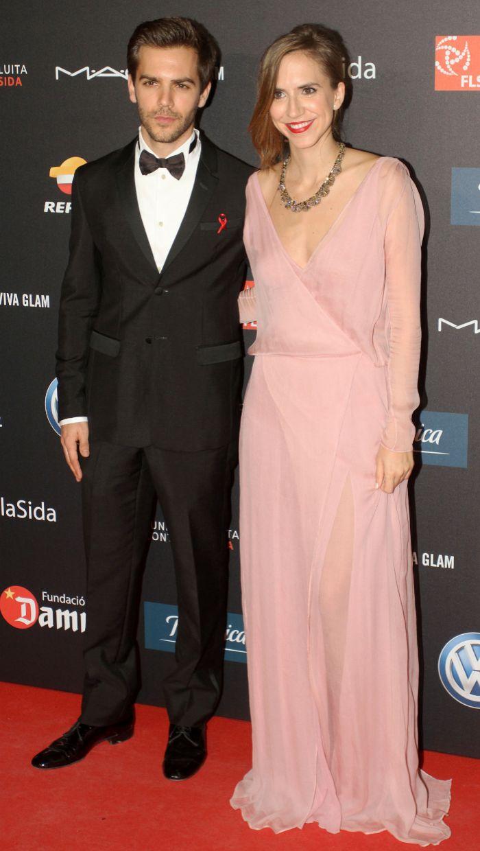 Los actores Marc y Aina Clotet, hijos del doctor  Bonaventura Clotet.