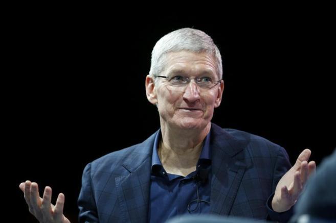 El CEO de Apple, Tim Cook, durante una presentación.