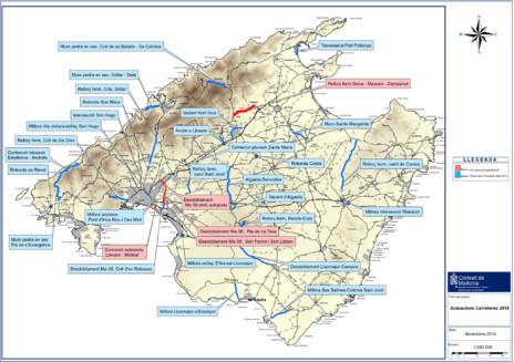 Mapa Carreteras De Mallorca.Seis Millones Mas Para Las Carreteras De Mallorca En 2015 Baleares El Mundo