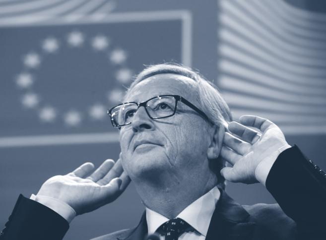 Jean-Claude Juncker, en una rueda de prensa en Bruselas.