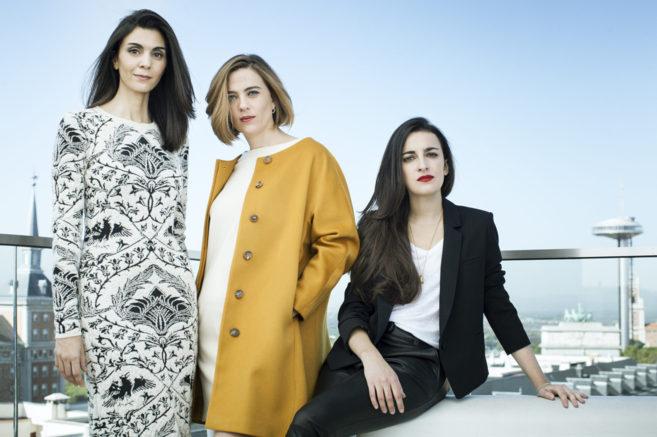 De izda. a dcha., Yolanda Domínguez, Guadalupe Sabio y Blanca Gracia....