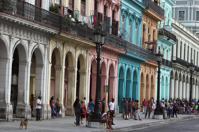 Una calle de La Habana.