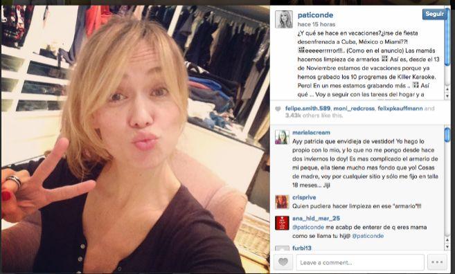 Patricia Conde y el comentario poco afortunado en su perfil social