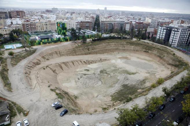 Solar en el que estaba el antiguo estadio de Vallehermoso con el nuevo...
