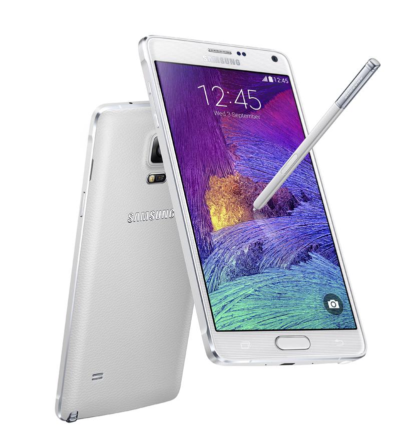 """<STRONG>MEJOR MÓVIL DE MÁS DE 5"""" / EL TRIUNFO DEL PUNTERO.  </STRONG> Steve Jobs no podía estar más equivocado. Si ves un puntero no significa necesariamente que hayan metido la pata. Samsung lo ha demostrado tras cuatro generaciones de Note. Lo que comenzó como un experimento se ha convertido en la mejor muestra de innovación y tecnología del fabricante coreano. El Galaxy Note 4 es un terminal que roza la perfección. Su estilo está perfectamente integrado en las funciones del teléfono y ofrece la posibilidad de anotar o dibujar a  mano alzada con precisión sobre una pantalla capacitiva. La pantalla, de 5,7 pulgadas, bate cualquier récord de brillo, contraste y fidelidad de color. Es uno de los teléfonos más potentes del mercado y la autonomía es apta hasta para los usuarios más activos. www.samsung.es"""