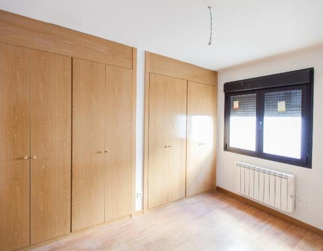 Imagen del interior de una de las viviendas más baratas de España,...