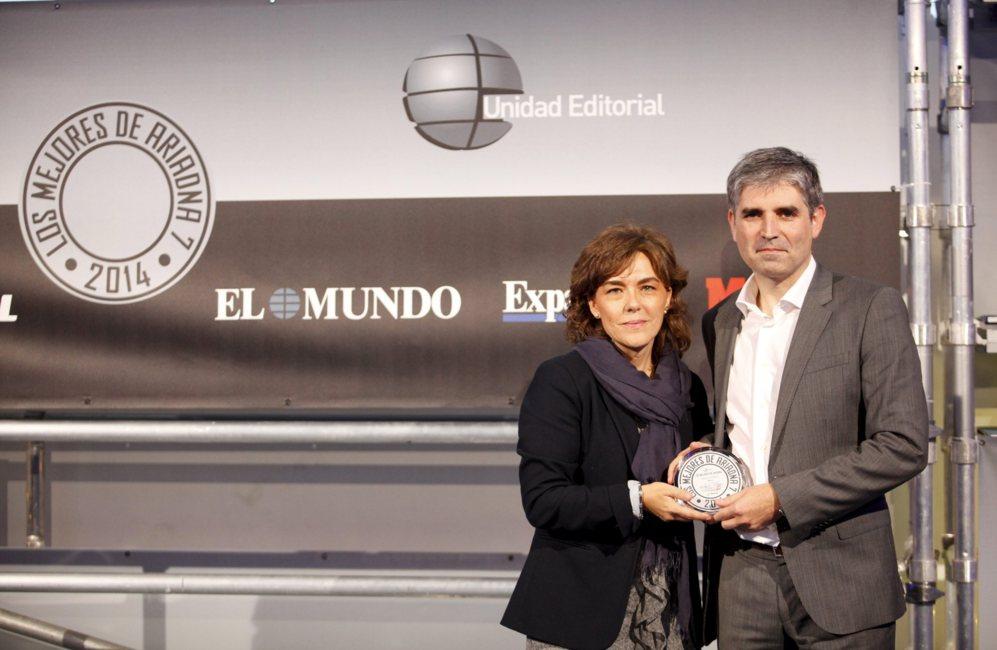 <STRONG> MEJOR APP / WUAKI.TV. </STRONG> Mar de Vicente con Josep Mitjà, fundador y CEO de Wuaki.