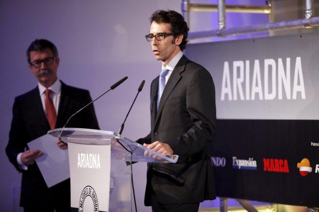 José Luis Vilar, CEO de Sistelbanda y Premio Especial Orbyt, durante...