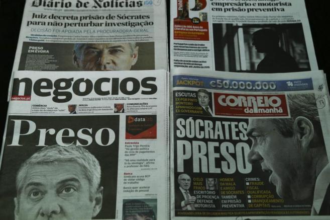 Portadas de los periódicos portugueses con la detención del ex...