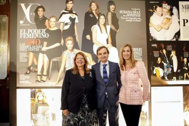 Elvira Rodríguez (CNMV), Miguel Ángel Mellado y Marta Michel.