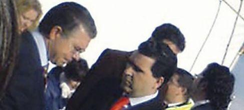 Francisco Granados, a la izquierda, junto a David Marjaliza, en una de...