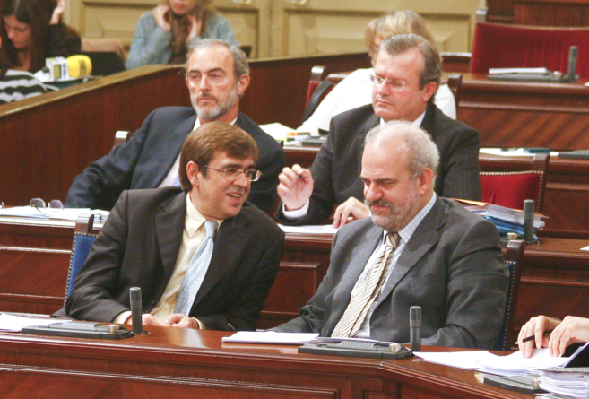 Francesc Antich, ex president delGovern, y Albert Moragues, ex...