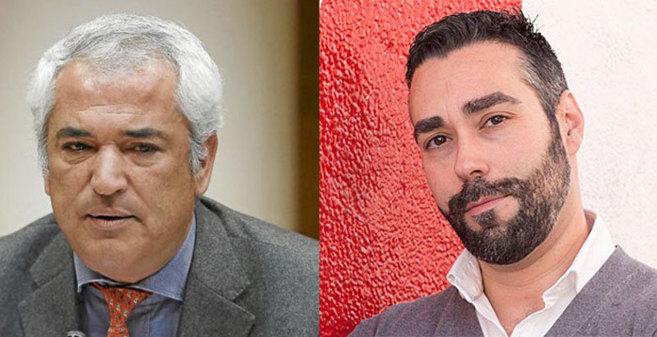 Luis Pineda, presidente de Ausbanc, y Rubén Sánchez, portavoz de...