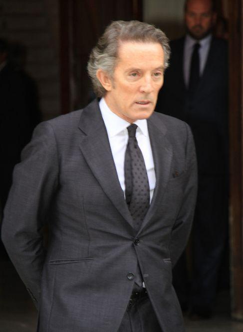 Alfonso Díez, en el funeral de la duquesa de Alba.