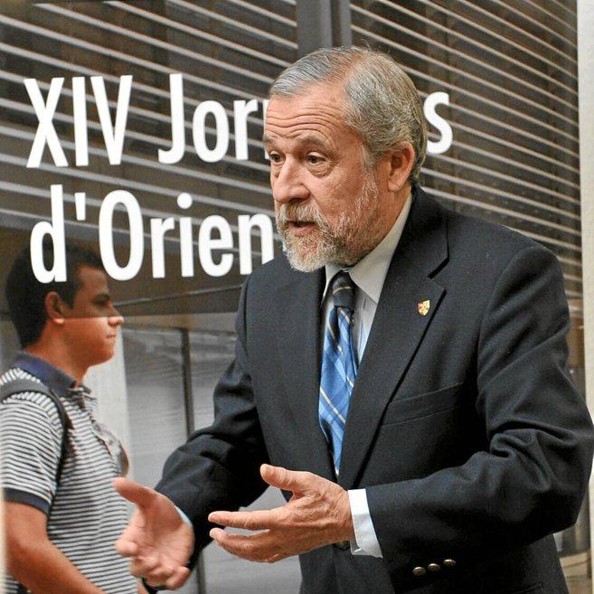 El catedrático Francisco Mora, en la Politècnica.