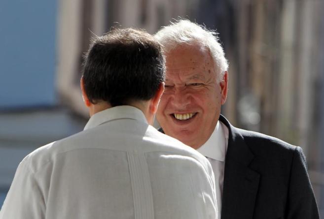 El ministro Margallo, durante su visita a La Habana.