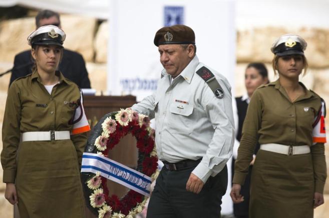 Gadi Eizenkot, durante una ceremonia en homenaje al fallecido David...