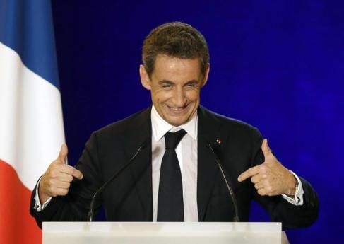 El ex presidente francés y recién elegido presidente de la UMP.
