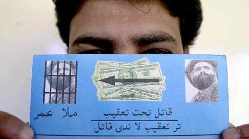 Cartel lanzado por EEUU en el se ofrece una recompensa por el paradero...