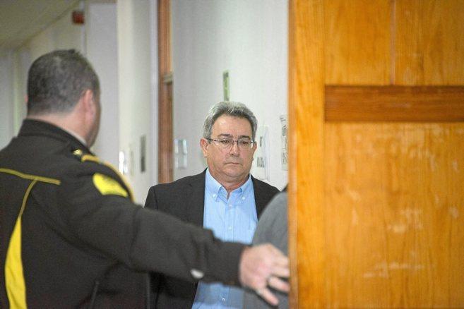 Santos Hierro en los Juzgados de Palma, donde acudió a declarar por...