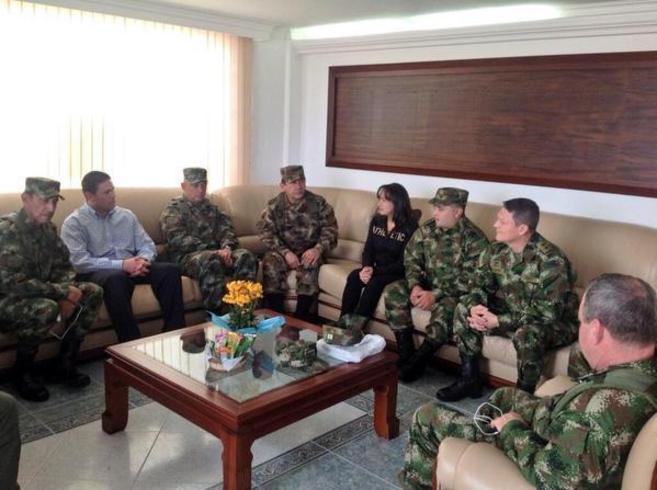 Imagen difundida por el Ministerio de Defensa colombiano tras la...