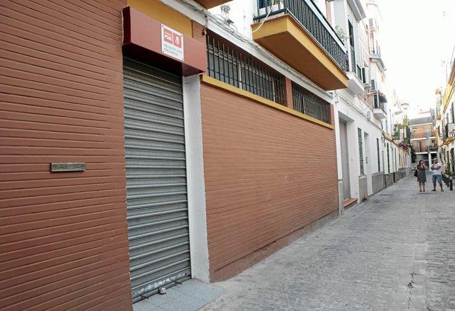 Sede del PSOE en la Macarena, cuya reforma pagó Fitonovo pero que...
