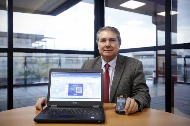 El Presidente de Alter Core, José María Pérez, en sus oficinas  de...