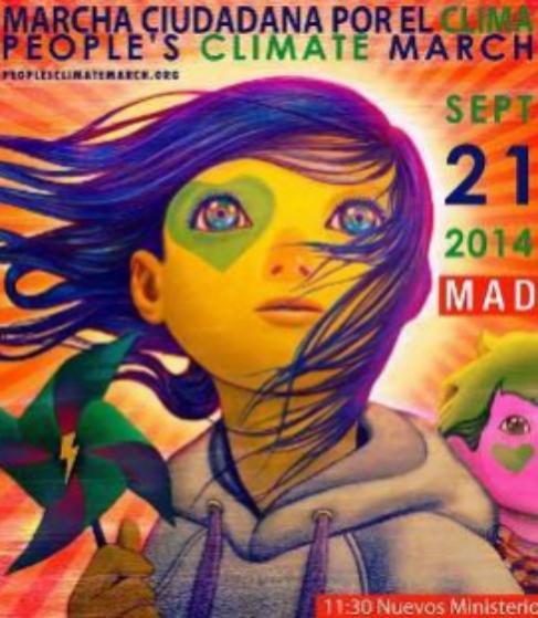 Cartel para la Marcha Ciudadana por el Clima