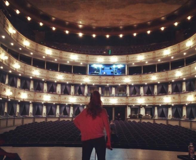Pastora Soler, horas antes de su actuación en el Teatro Cervantes de...