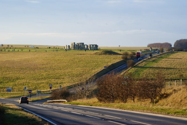 Carretera A303 de Stonehenge.