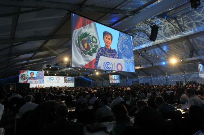 Conferencia sobre el cambio climático en Lima.