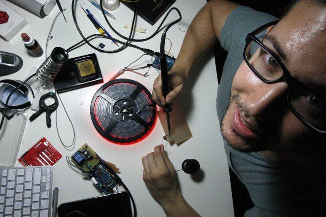 Marc Expósito, 'dreamer' e ingeniero multimedia, posa con...
