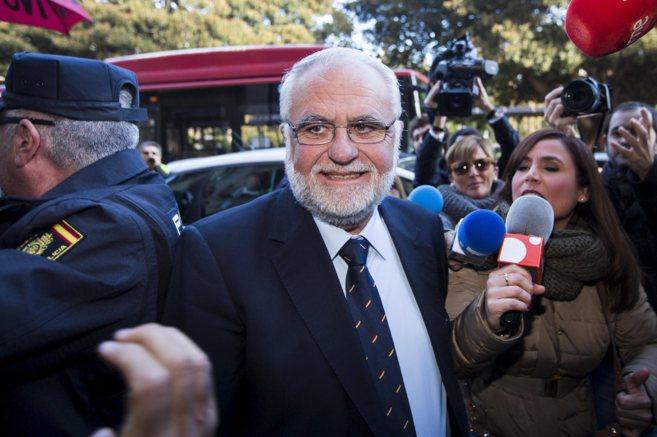 Juan Cotino, a su entrada al Tribunal Superior de Justicia de la...