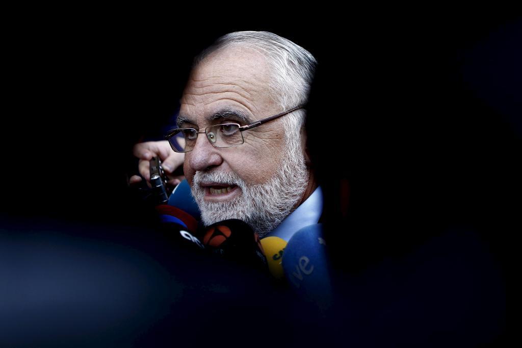 Juan Cotino, tras prestar declaración este martes en el TSJ de...
