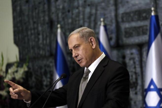 El primer ministro de Israel, Benjamin Netanyahu, durante un discurso...