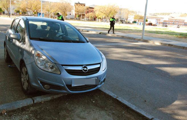 El coche en el que viajaba el niño que ha fallecido.
