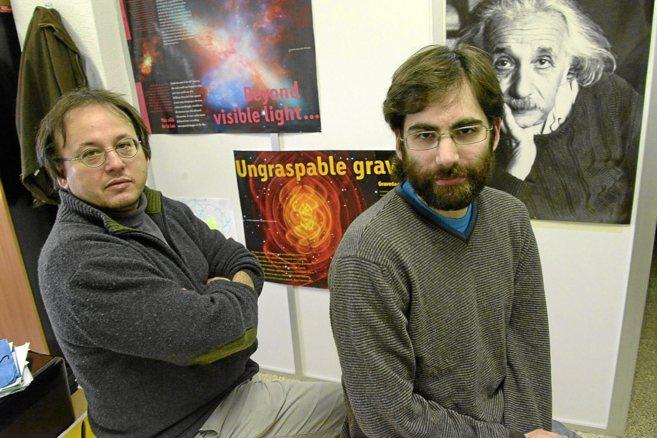 Los investigadores Sascha Husa y Alejandro Bohé, dos de los autores...