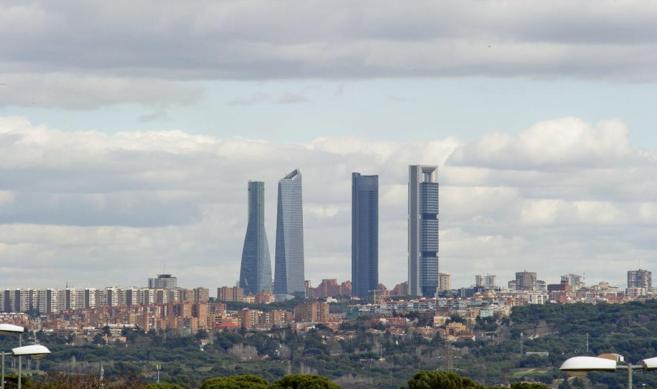 Imagen panorámica del parque empresarial de las Cuatro Torres en...