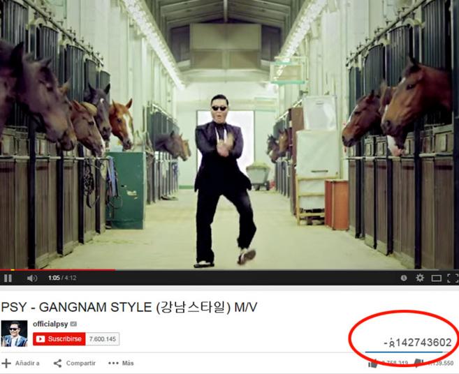 El marcador de visitas de Youtube se mueve e incluso muestra números...