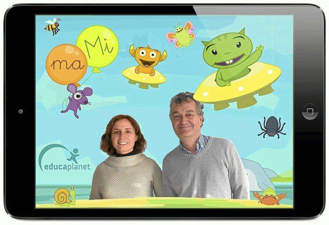 Eva Barceló y Fernando Darder, creadores de Educaplanet.