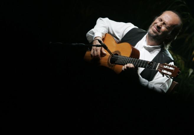 El guitarrista Paco de Lucía durante una actuación en Palma en enero...